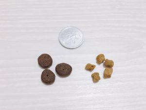 モグワンの粒の大きさの画像